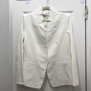 NEW! Never Worn White Blazer. LOFT, Size 12